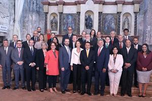 Foto de familia de los asistentes al Congreso